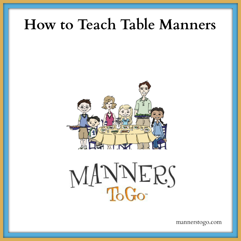 How to Teach Table Manners to Children at Home