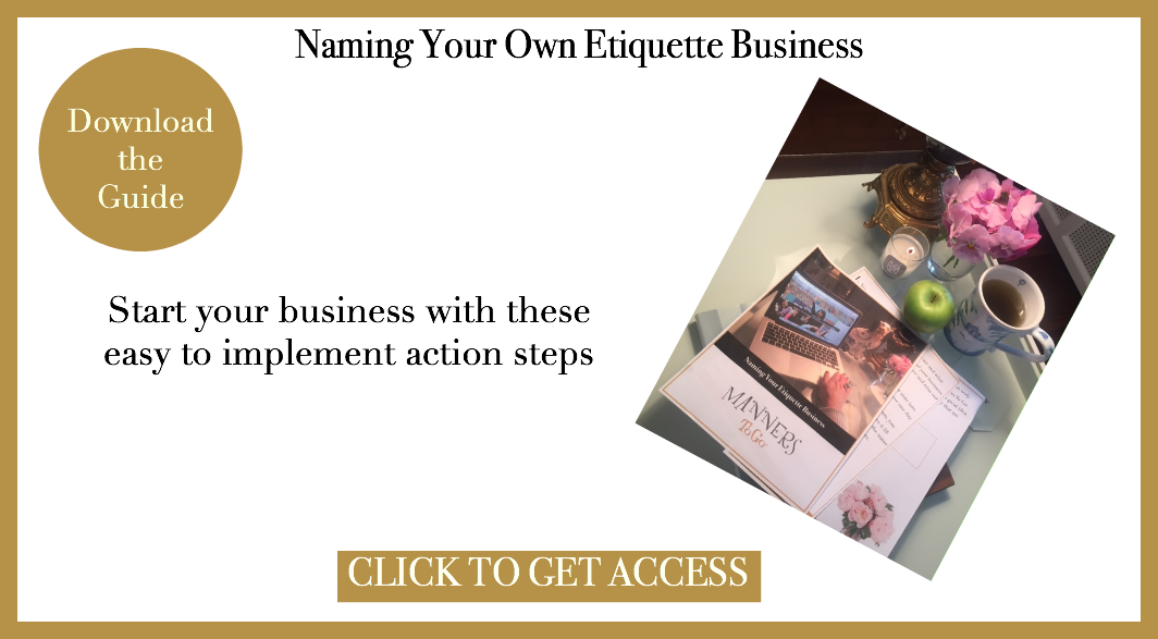 Naming Your Etiquette Business