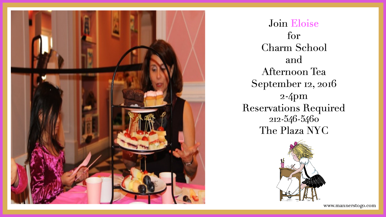 Join Manners To Go at the Eloise Boutique for Charm School