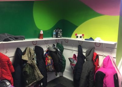 Coat closet with children's coats