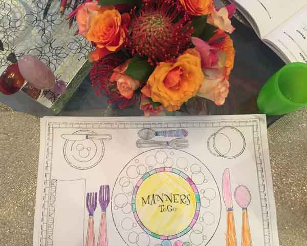Placemat coloring sheet