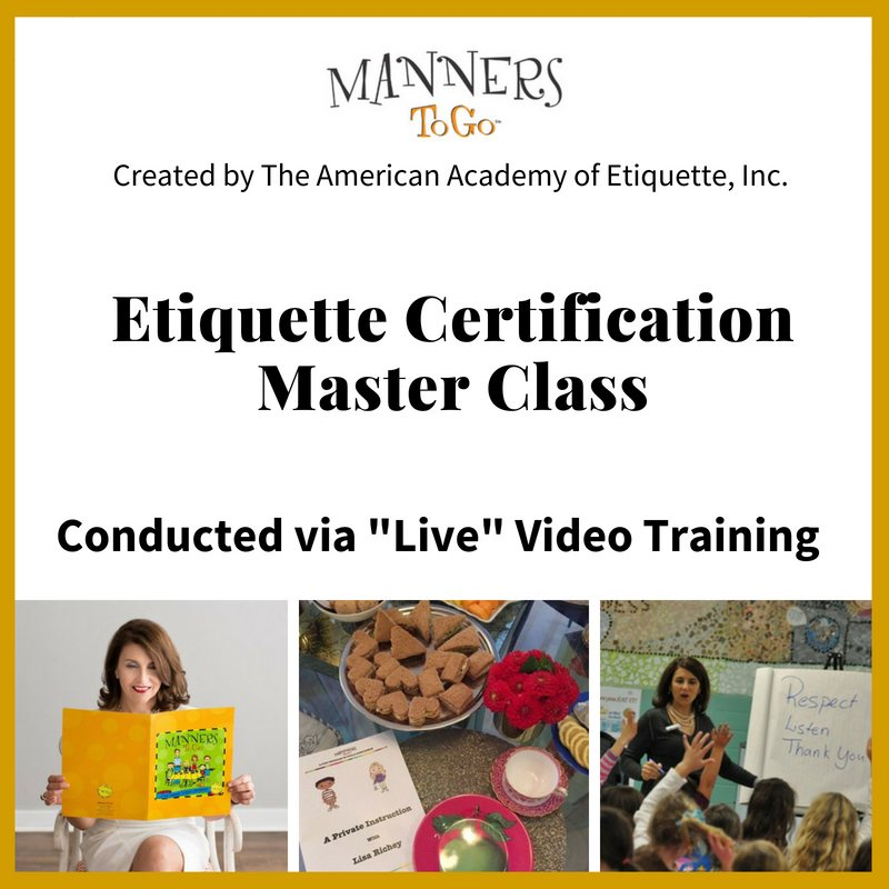Live Video Training Program Manners To Go