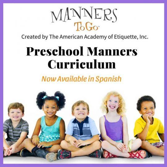 Preschool Manners Curriculum