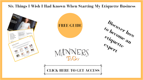 Etiquette Certification by Manners To Go