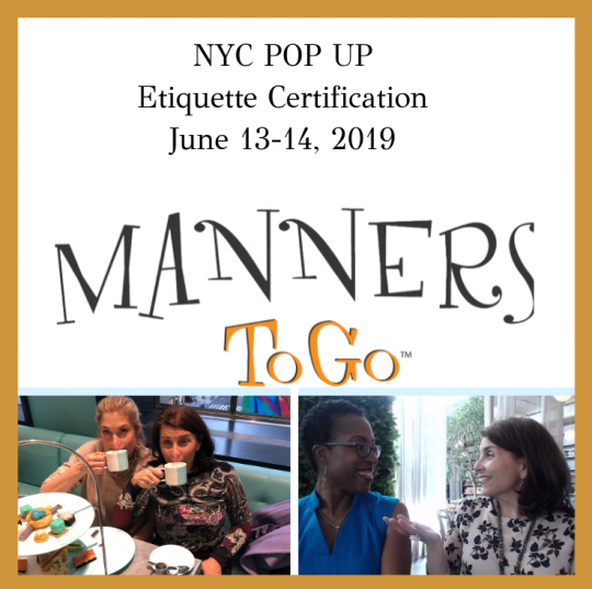 NYC Etiquette Certification Pop Up
