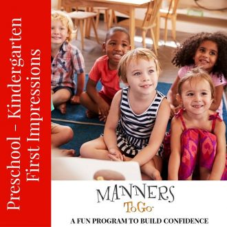Preschool Manners curriculum - First Impressions
