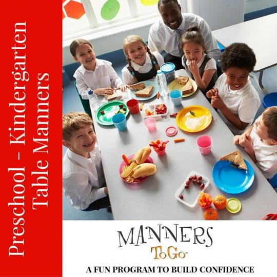 Preschool Table Manners curriculum