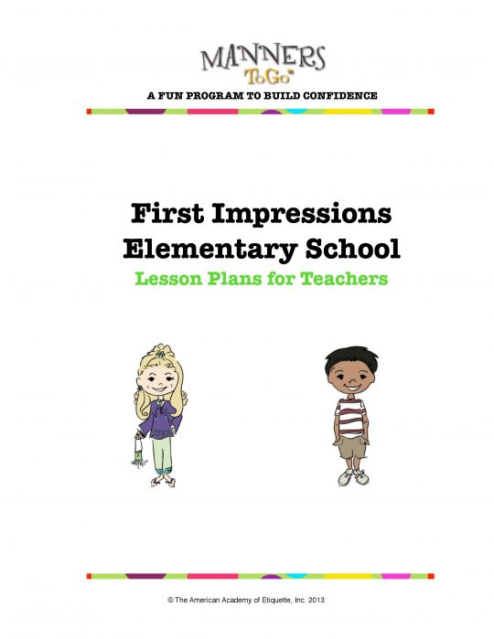 First Impression curriculum sample 1