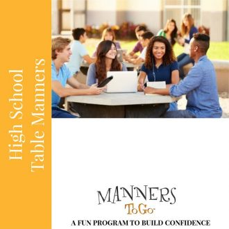 High school table manners curriculum