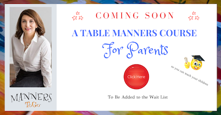 Teach table manners at home