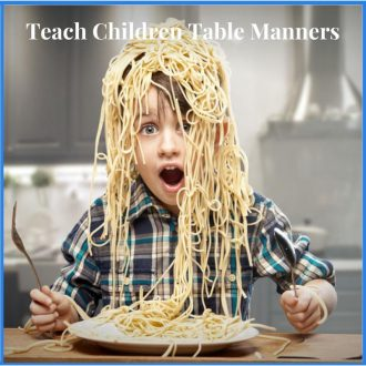 Teach children table manners online course for $9.99