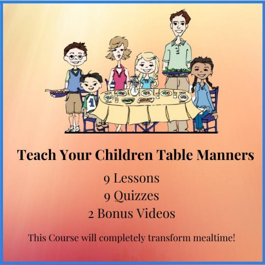 Teach Table Manners course for parents