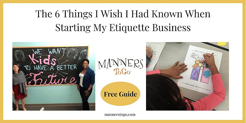 6 Things Needed to start an etiquette business