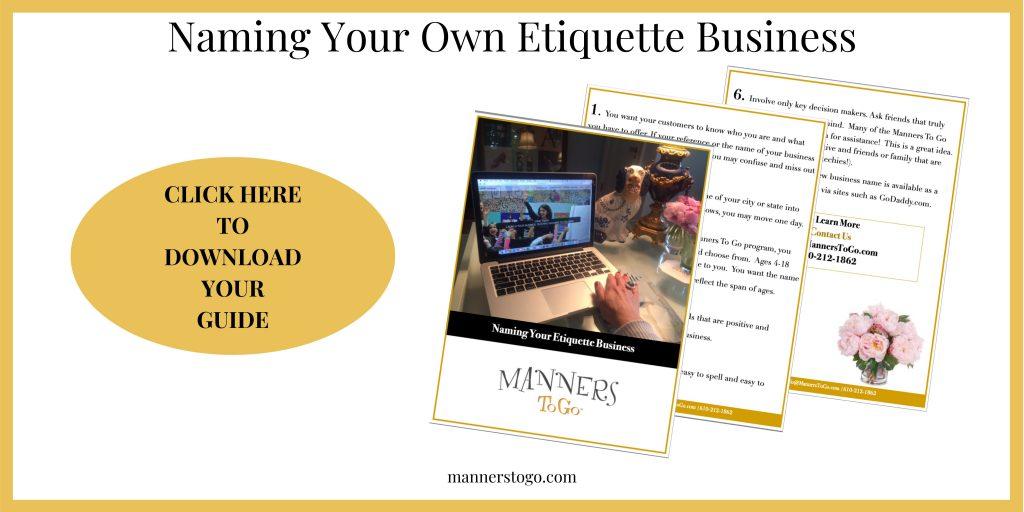 Start an Etiquette Business