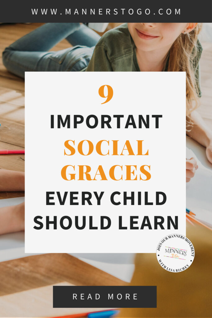 9 Important Social Graces Every Child Should Learn   Manners to Go
